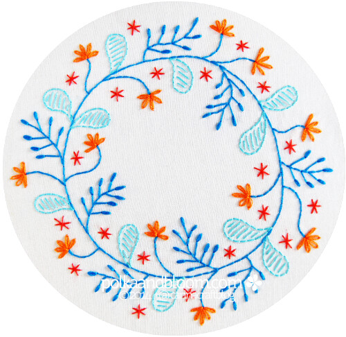 Flower Crown Reverie - embroidery pattern