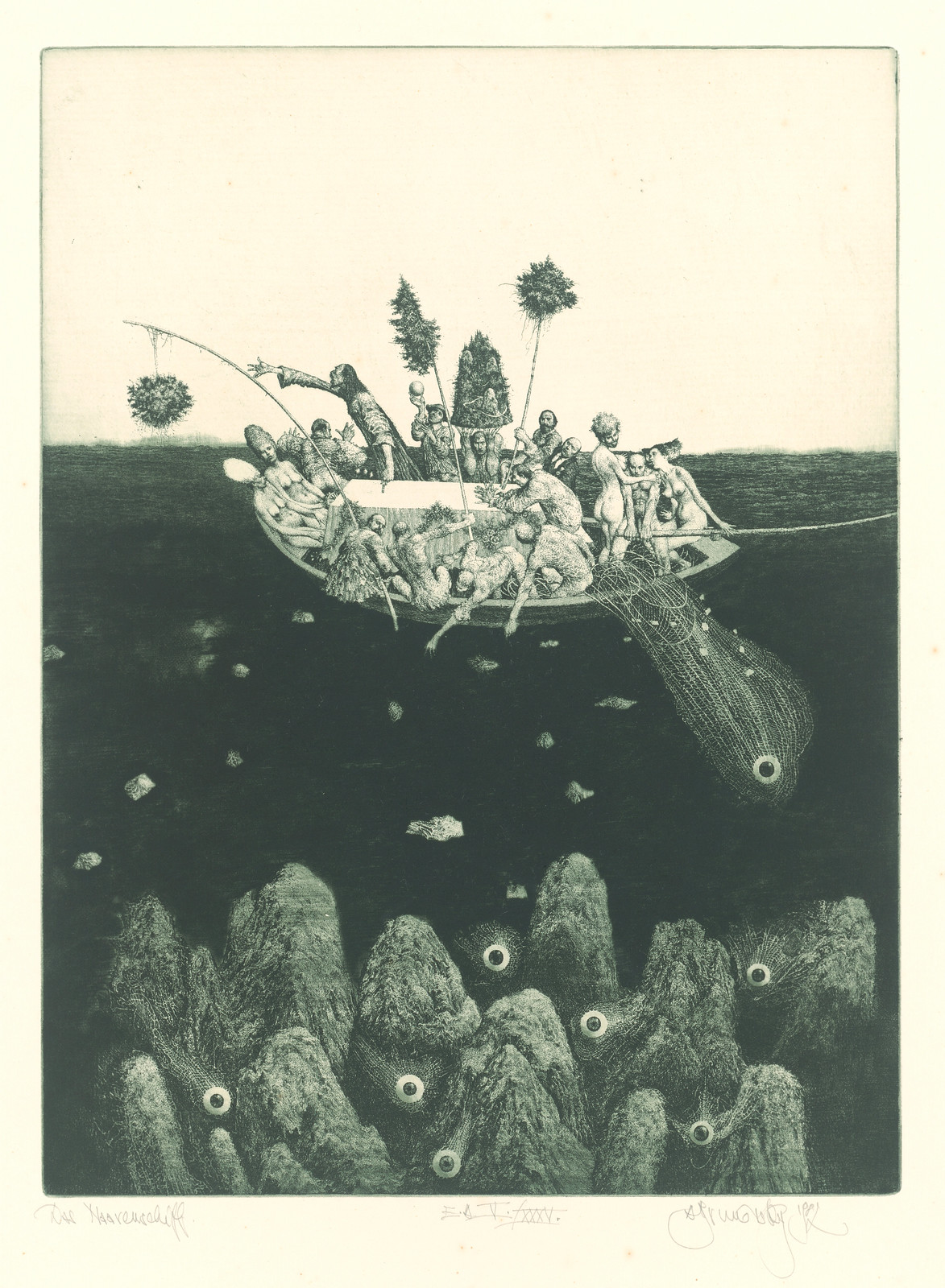 Albin Brunovsky - The Ship of Fools, 1982