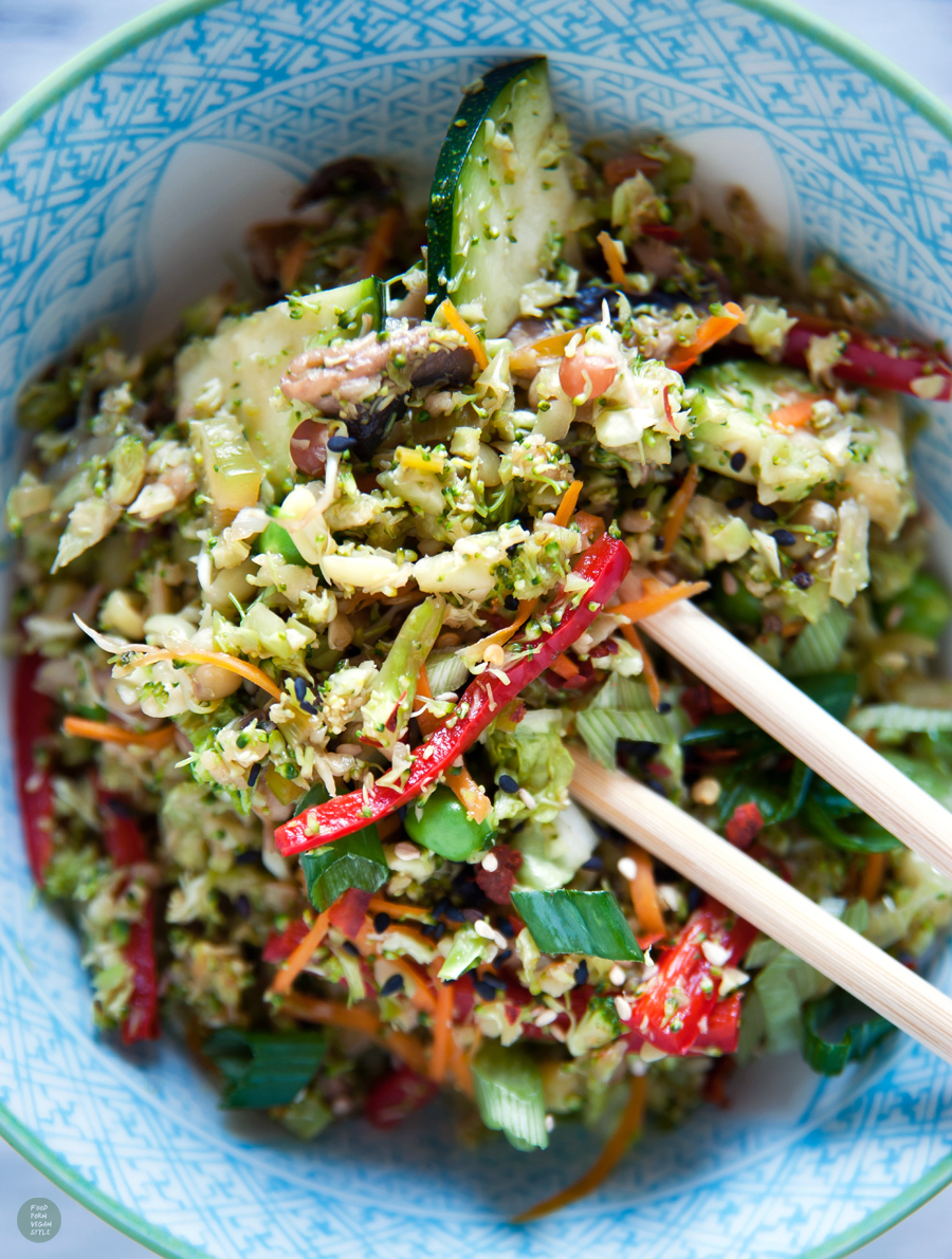 Broccoli rice stir-fry with vegetables