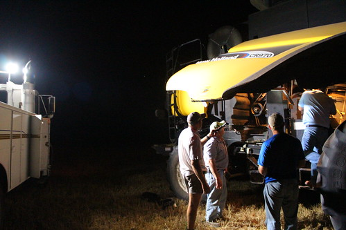 Harvest Support helping us fix our rotor belt.