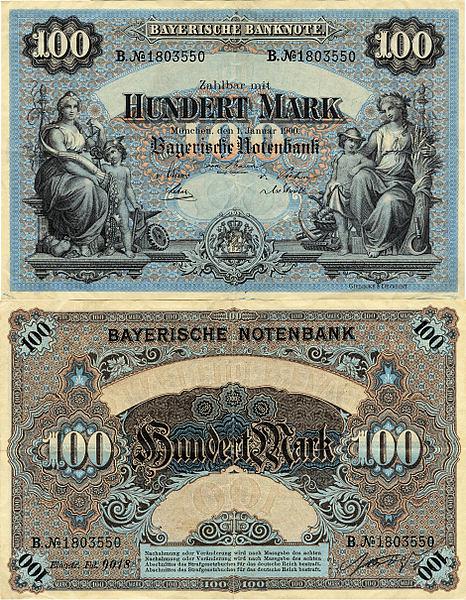 100 Mariek Bavorsko (Nemecké štáty) 1900