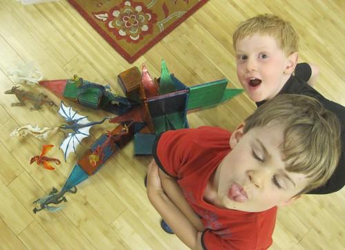 the dragon ship and some goofy boys