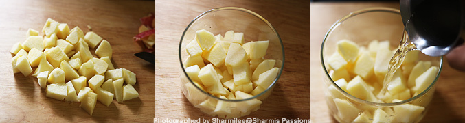 How to make Apple Puree for Babies - Step2