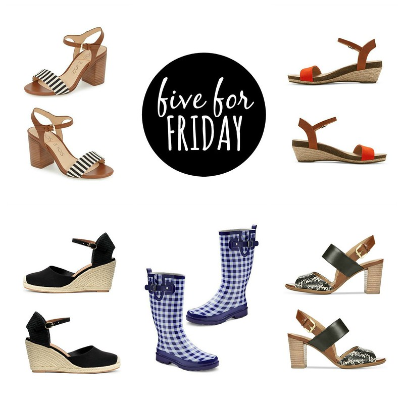 five for friday summer shoes | Style On Target
