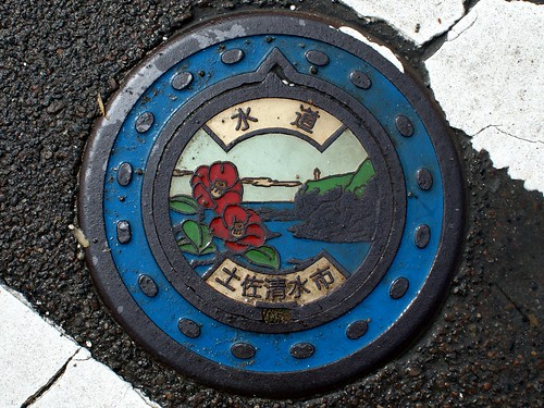 Tosashimizu Kochi, manhole cover 2 (高知県土佐清水市のマンホール2)