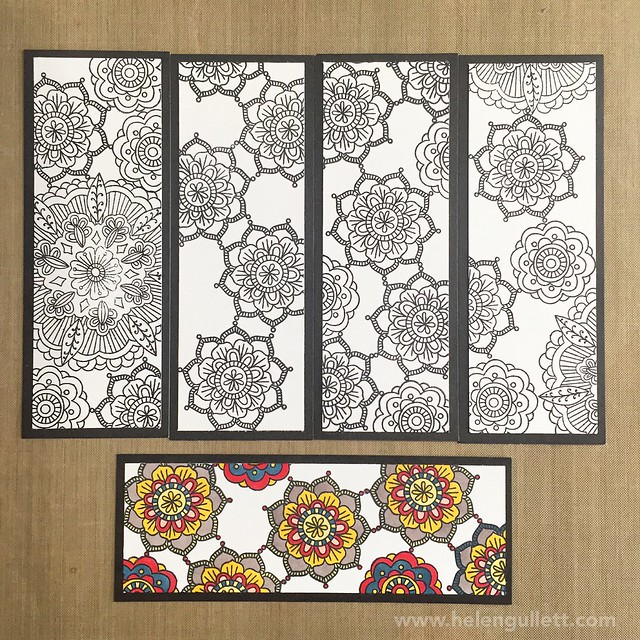 Coloring Bookmark with Ornate Blossoms Stamp Set and ShinHan Touch Twin Markers from CTMH (Close To My Heart)