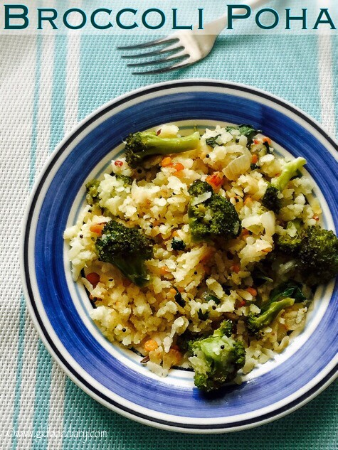 Broccoli Poha Recipe for Babies, Toddlers and Kids2