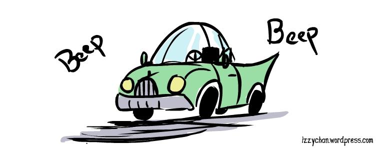 beep beep green car
