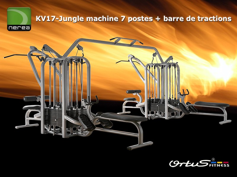 Jungle machine 7 postes + barre de tractions