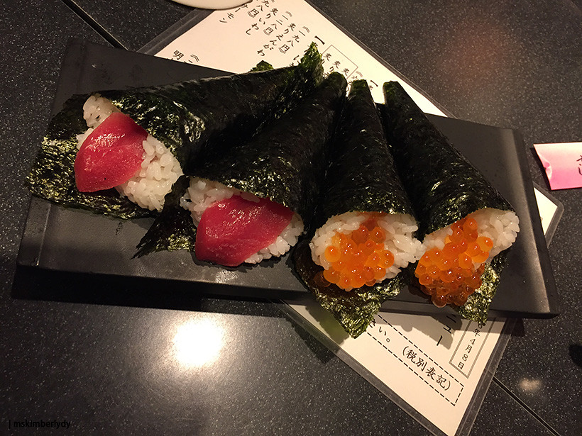 Japan 2016: Day 4 Sushi Zanmai temaki