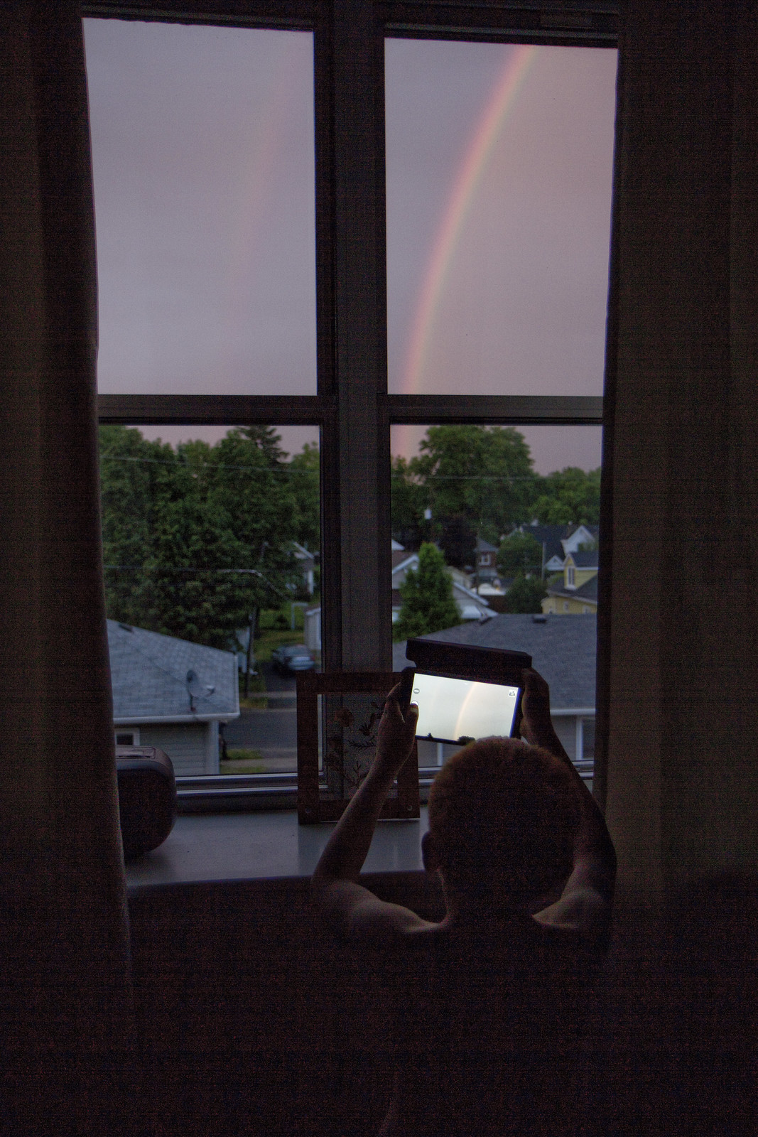 rainbow at dusk - Evan