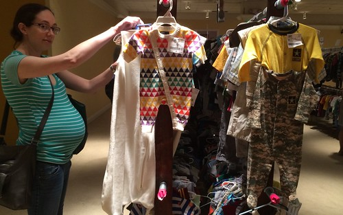 Infant consignment shopping at Landmark Mall