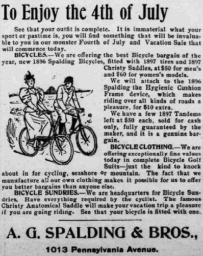 To enjoy the 4th of July - a bike! (1897)