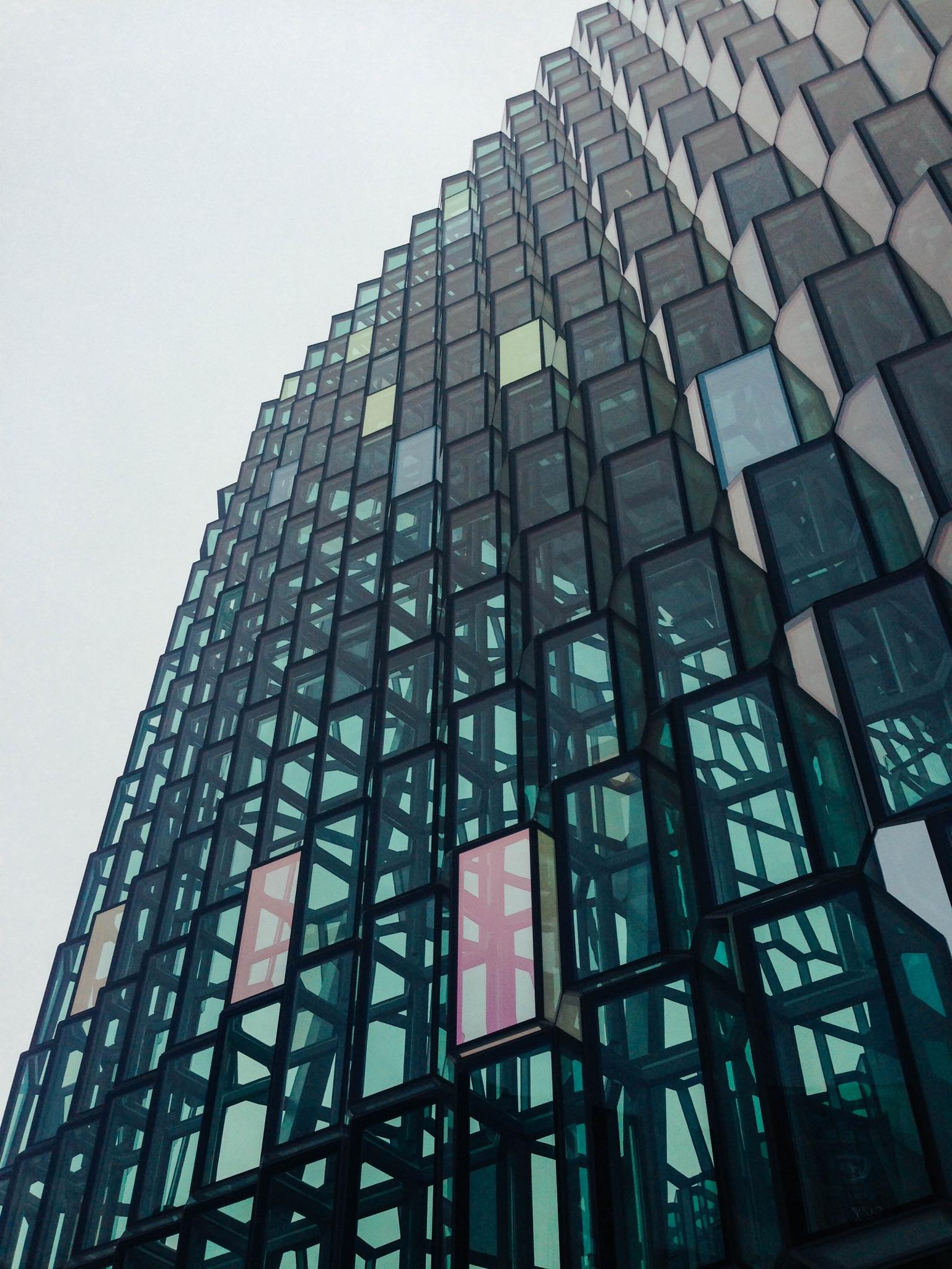 Harpa in Reykjavik, Iceland designed by Olafur Eliasson. [OC] [1536x2048]