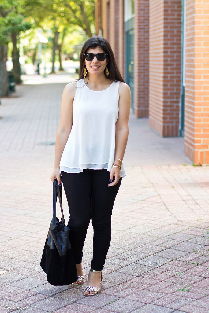 white trapeze tank, black pants, studded sandals-4.jpg