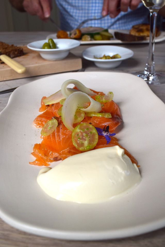 Gin Cured Salmon at The Sportsman, Seasalter | www.rachelphipps.com @rachelphipps