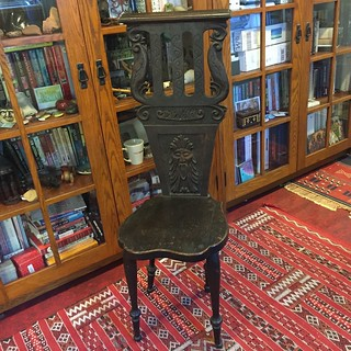 Fumed Oak carved chair by Ella Rachel Bolli Van Gilder