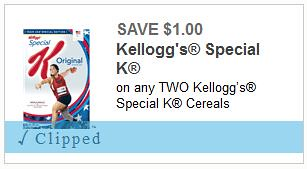 Special K Cereal Coupo