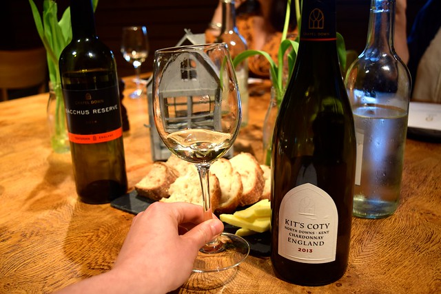 Kit's Coty Chardonay at Chapel Down Vineyard | www.rachelphipps.com @rachelphipps
