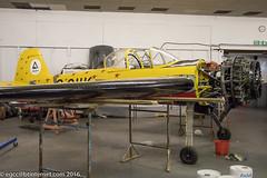 G-CIIK - 1990 build Yakovlev Yak-55, undergoing UK certification formalities at Barton