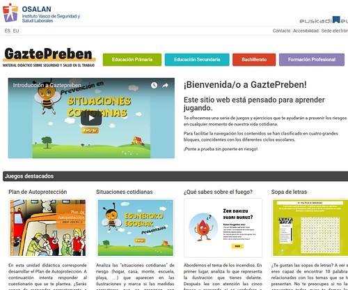 GaztePreben, material didáctico de OSALAN sobre seguridad y salud en el trabajo