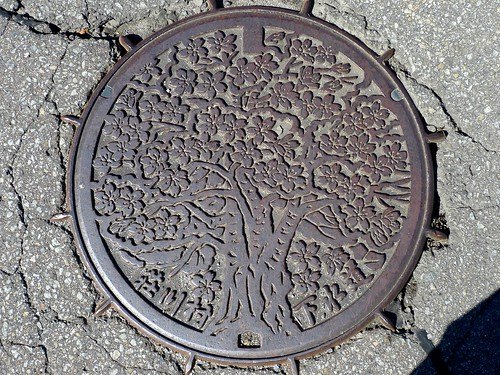 Shokawa Gifu, manhole cover (岐阜県荘川村のマンホール)