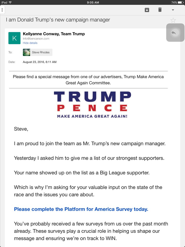 Donald Trump Ads & Fundraising Emails