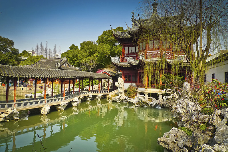 A look at Yuyuan Garden in the northeast of the Old City of Shanghai.
