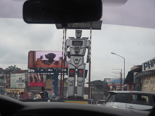 Traffic directing robot, Kinshasa