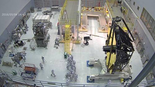 Webcam View of JWST Going Vertical