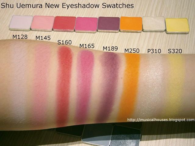 Shu Uemura Eyeshadows Swatches New