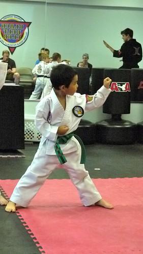 Double forearm block in taekwondo poomsae