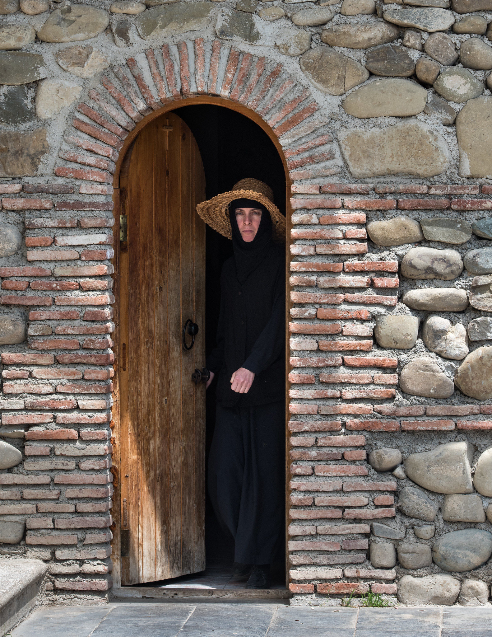 Nun at Bodbe Monastery