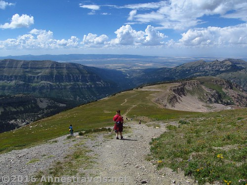 Hiking back down from Table Mountain, Jedediah Smith Wilderness & Grand Teton National Park, Wyoming