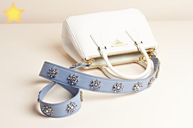 Prada Galleria+Saffiano Crystal Flower strap MCW