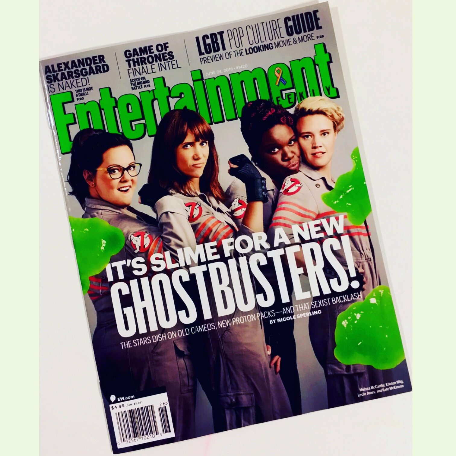 Entertainment Weekly 24 June, 2016 - Ghosbusters 2016