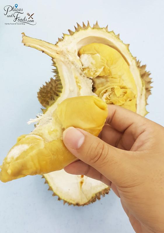Musang Queen Durian flesh texture