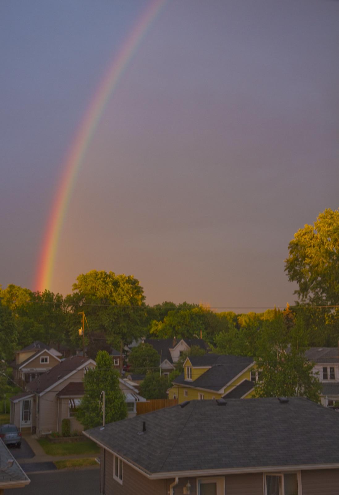 rainbow at dusk
