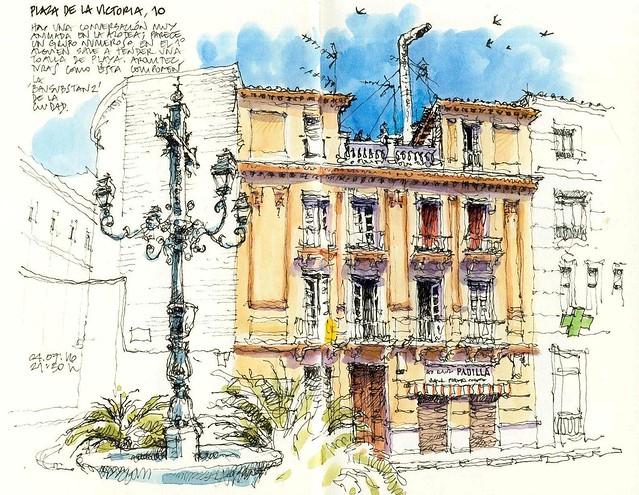 Málaga, plaza de la Victoria 10