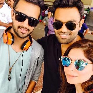 Superlyk.. Atif Aslam , Kanika Kapoor & DJ Chetas at #Guwahati Airport ...