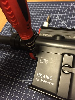 TM HK416C removing pin
