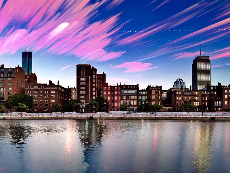 Back Bay Sunset Timestack