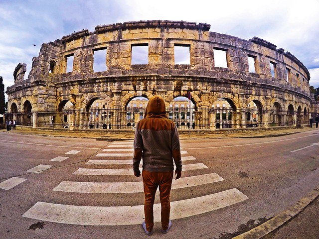 Back View. Pula,Croatia