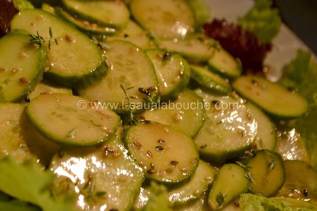 Salade de Concombres et Cornichons Marinés © Ana Luthi Tous droits réservés 4