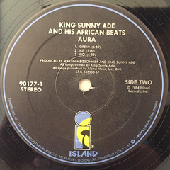 KING SUNNY ADE AND HIS AFRICAN BEATS:AURA(LABEL SIDE-B)