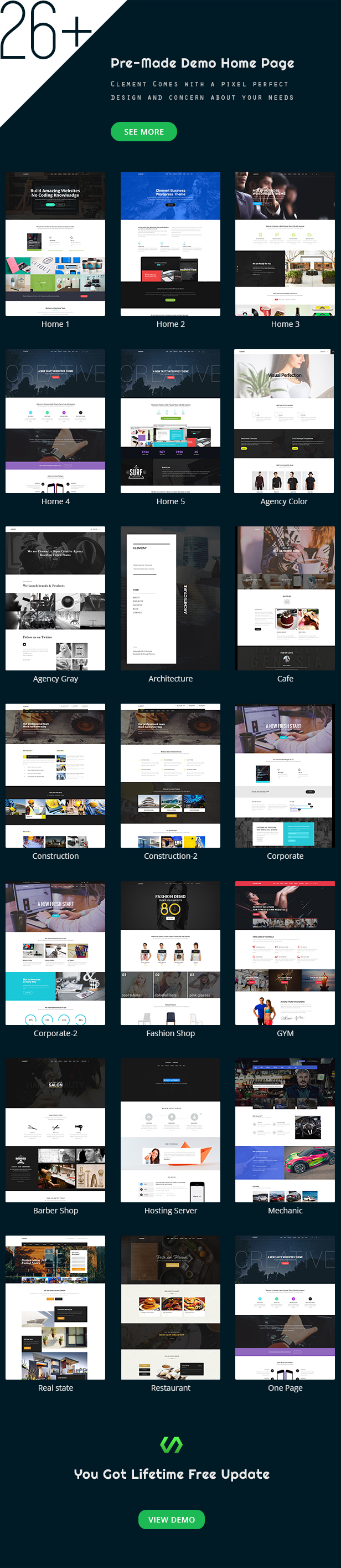 Clement - Responsive Multi-Purpose Multipage & One Page Html Template
