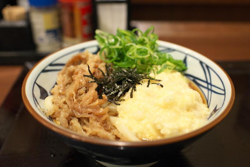 丸亀製麺 麦とろ牛ぶっかけうどん 2016年5月31日