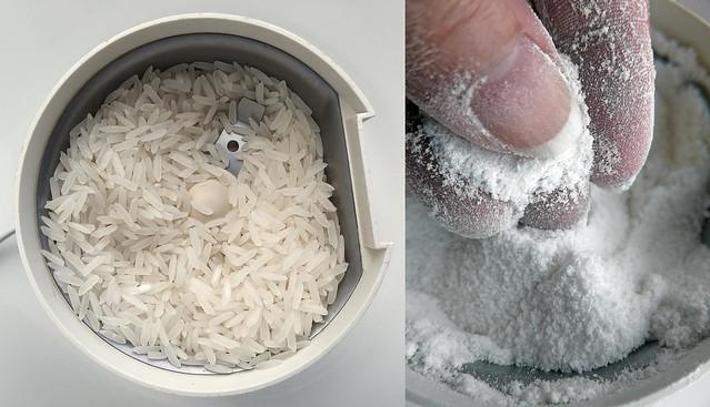 Rijstmeel maken