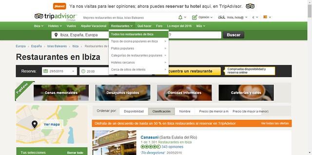 Tripadvisor restaurantes ibiza
