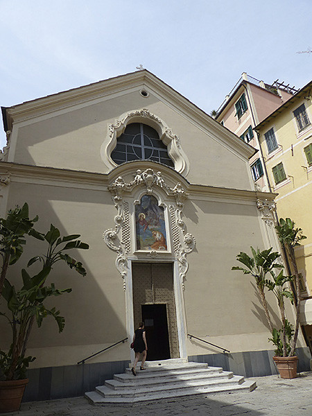 entrée de l'église de bordighera